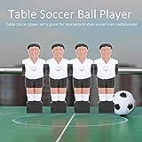 Jugador de Pelota de fútbol de Mesa, Hombre de Pelota de fútbol de Mesa de 37 * 110 mm, Juego de reemplazo de diversión para Interiores/Exteriores para niños Adultos para fútbol de Mesa