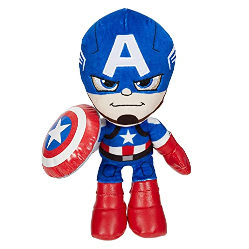 Marvel Peluche Capitán América 20 cm, juguete para niños +3 años (Mattel GYT42)