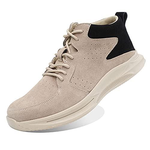 Meng Zapatos de Seguridad para Hombres Zapatos de Acero con Punta de Seguridad,Zapatillas Deportivas Ligeras e Industriales Transpirables (Color : Beige, Size : 36)