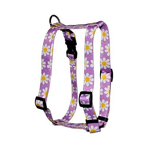 Yellow Dog Design Lavender Daisy Roman Style H Dog Harness, Small/Medium
