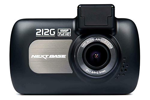 "Nextbase 212G Dash Cam - 1080P /30fps 2.7"" LED Screen Car Recorder Night Vision Camera G-Sensor - Black- GPS Click and Go Mount Included Images, 140° Viewing Angle"