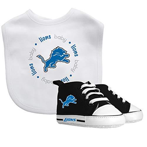 Baby Fanatic NFL Legacy Infant Gift Set, Detroit Lions, 2Piece Set (Bib & PRE-Walkers)