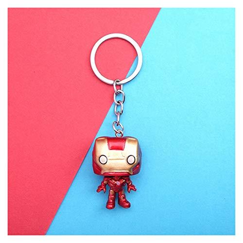 JSJJAWS Key ring ornaments Spiderman Iron Man Hero Cartoon Keychain Anime Figure PVC Bag Key Pendan Toys Gift gift (Color : 11)