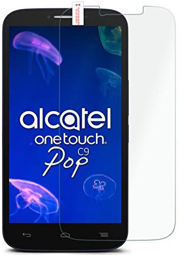 MoEx® Matte Panzerglasfolie aus 9H Echtglas passend für das Alcatel One Touch Pop C9 | Kratzfest, Entspiegelnd + Reduziert Fingerabdrücke