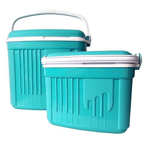 32L Kühlbox Thermobox Kühltasche Camping Kühlschrank Eisbox + 8L Isolierbox Set Türkis