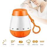 Einschlafhilfe Baby Und Kleinkind mit 6 Beruhigender Geräuschen- White Noise