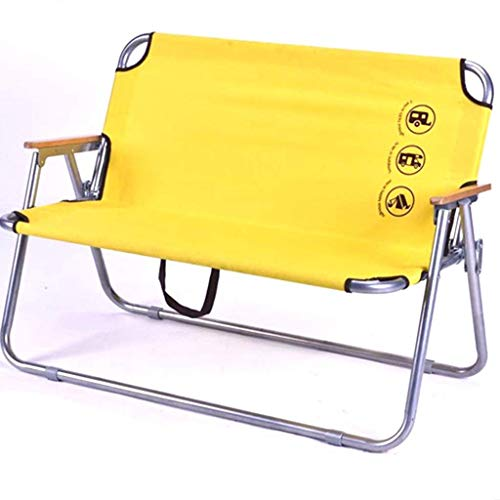 Klappstuhl Tragbare Doppel Camping Stühle Gelb Outdoor Beach Lounge Chaise