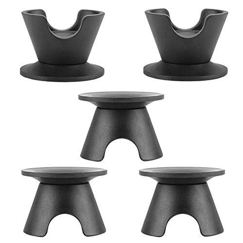5 Stks Zwarte Pot Deksel Knop Keuken Kookgerei Saucepan Ketel Deksel Vervangende Knoppen Cover Holding Handgrepen