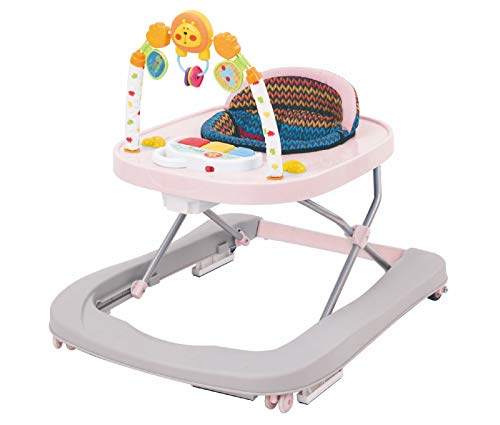 Girello per Bambini 3 Altezze Zibos Arco Candy Rosa