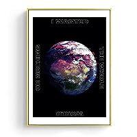 モダンウォールアートシリーズアースサンフランシスコ橋シティSkyscapeクォートピースラブポスターウォールアートキャンバスプリントウォールの装飾 (Color : B, Size : 30x40 CM No Frame)