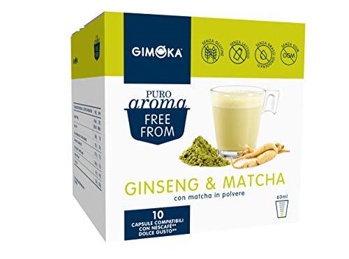 Gimoka - Capsule Compatibili Nescafè Dolce Gusto, Gusto Ginseng e Matcha, Ginseng & Matcha, 30 Capsule