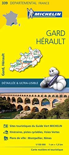 Carte Gard, Hérault Michelin