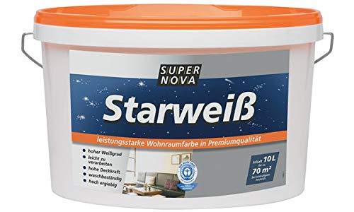 SUPER NOVA 20001013800000 Wandfarbe Starweiá, weiá, 2,5 Liter