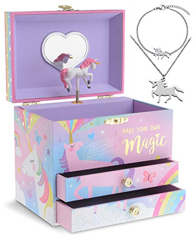 5. Jewelkeeper Unicorn Music Box