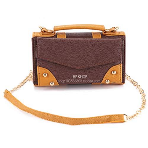 WXWU Harry Potter portemonnee echte Zweinstein ketting tas schouder diagonaal mobiele telefoon handtassen PU kaart pakket