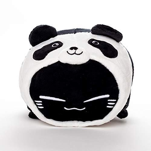 MB-Müller Geekinvader Katze im Panda Kostüm Plüschtier Spielzeug Kuscheltiere Kinder Stuhlbezug Kissen Premium Geschenke für jeden Anlass