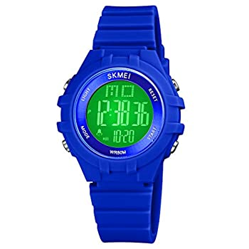 CakCity Kids Digital Sport Waterproof Watch for Girls Boys Kid Sports Outdoor LED Electrical Watches with Luminous Alarm Stopwatch Child Wristwatch Ages 3-19