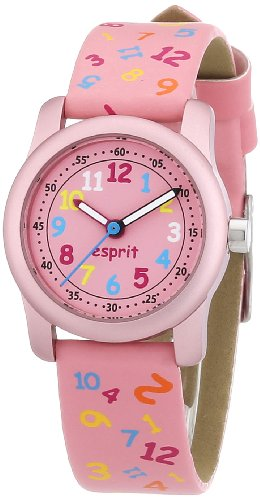 Esprit ES000FA4027 - Reloj analógico de Cuarzo para niña con Correa de Resina, Color Rosa