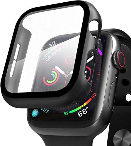 YSIUENG 하드 케이스와 호환되는 애플 시계 시리즈 3 | 2 | 1 42MM 스크린 보호자 매우 얇은 부드럽게 한 유리제 스크린 보호 전반적인 보호 커버 IWATCH 시리즈 3 | 2 | 1