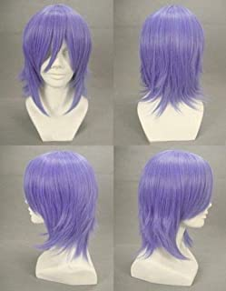 FidgetKute Vampire Mizore Shirayuki Cosplay Short Wig Blue Purple Synthetic Wigs