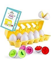 マッチングエッグ 知育ガイドブック付き 衛生法検査クリア モンテッソーリ教具 知育玩具 卵 形合わせ 早期教育