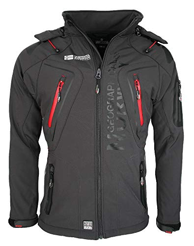 Geographical Norway Tambour - Giacca softshell da uomo Grey - Dark Grey M