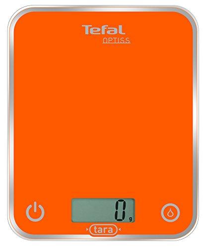 Tefal BC5001V1 - Báscula electrónica de Cocina, 5 kg, LCD, Naranja