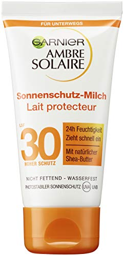 Garnier Ambre Solaire Sonnencreme Feuchtigkeitsspendende Sonnenschutz Milch LSF 30ung (1 x 50 ml)