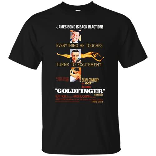 YINJING Goldfinger, James Bond, 007, Sean Connery, Spy, Honor Man, Retro, Movie