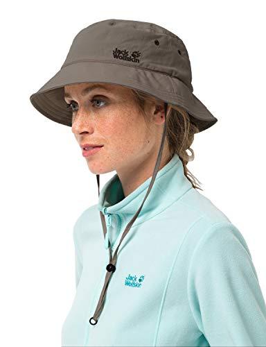 Jack Wolfskin Hut Supplex Sun Hat, Siltstone, M, 1903391-5116003
