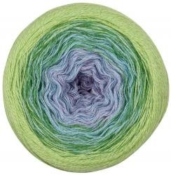 Lana Grossa Shades of Merino Cotton 404 - Lila/Hellblau/Erbse/Gelbgrün