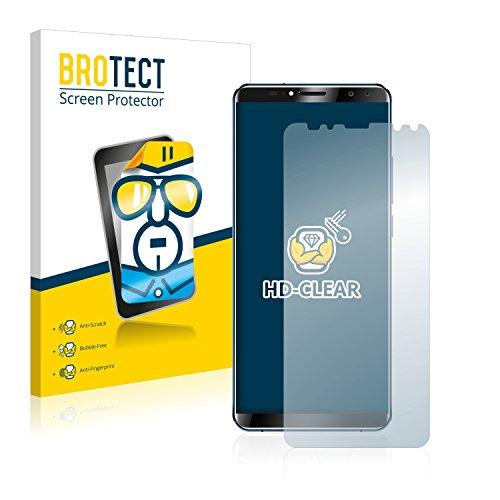 BROTECT Schutzfolie kompatibel mit Oukitel K6 (2 Stück) klare Bildschirmschutz-Folie