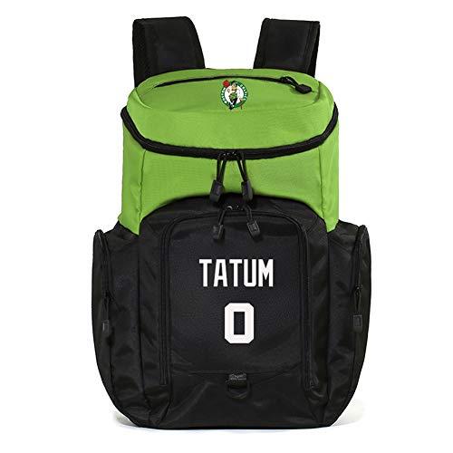 Z/A Celtics Jugador De Baloncesto Mochila Tatum, De Múltiples Funciones del Compartimiento, Durable Cómodo, Resistente Al Agua, Transpirable Senderismo Daypack Materiales, Ventiladores Regalo