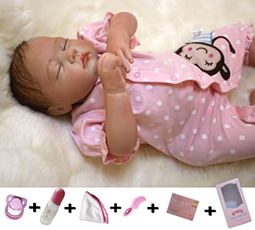 ZIYIUI Reborn Babypop Meisje 20 inch 50cm Zachte Siliconen Vinyl Levensecht Reborn Poppen Goedkoop Magnetisch Speelgoed Handgemaakt Slapende Meisjes Vakantie Geschenken Reborn Doll