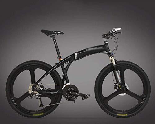 Bici de montaña plegable de bicicletas, bicicletas variable Hijos Adultos velocidad, Estudiante de bicicletas todo terreno que compite con bicicleta de ruta, de 26 pulgadas de doble freno de disco de