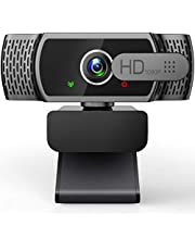 Webcam for PC with Microphone - 1080P FHD Webcam with Privacy Cover, Plug and Play USB Web Camera for Desktop & Laptop Conference, Meeting, Zoom, Skype, Facetime, Windows, Linux, and macOS