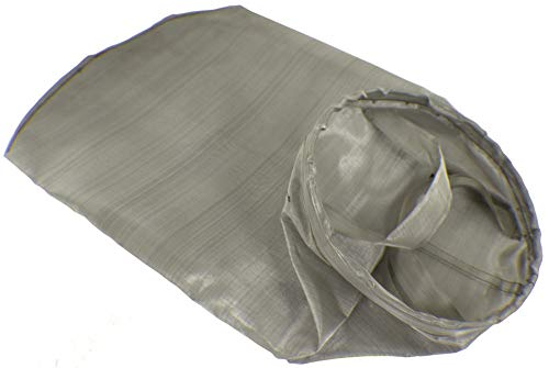 Duda Energy UPC SS1P1SSW:100 Filter Bag, 7' x 16', 100 Mesh/149 Micron Welded Sus304 Ring, Dual SS304 Hanging Straps, 304 Stainless Steel