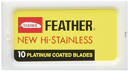 Feather Pack de 30 Lames Plates Feather pour Rasoir de Sûreté