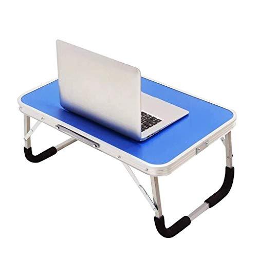ZLCTG Laptop-Tisch fürs Bett, tragbarer Outdoor-Campingtisch, Frühstücks-Serviertablett mit Beinen - Pink