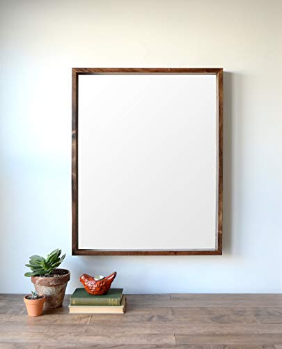 Deep Wooden Wall Mirror