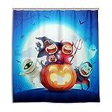 CPYang Duschvorhänge Halloween Nacht Hexe Kürbis Wasserdicht Schimmelresistent Badevorhang Badezimmer Home Decor 168 x 182 cm mit 12 Haken