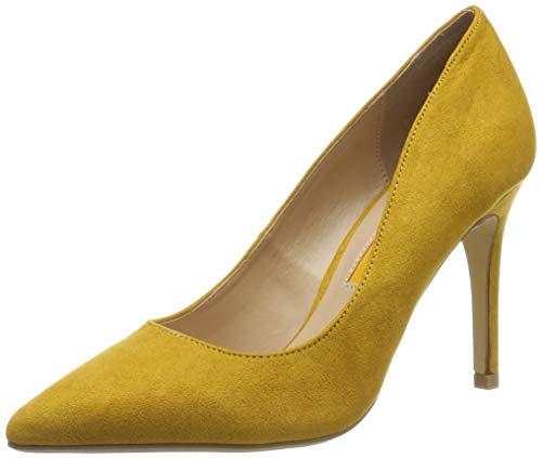 Elegante zapato de tacón amarillo de Dorothy Perkins
