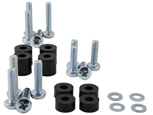 MonLines MO-05669437 schroevenset, metaal, zilver, 4 x 0,5 x 0,5 cm wit/zwart