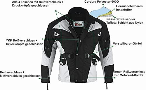 German-Wear Motorradjacke, Schwarz/Hellgrau, 5XL - 2