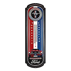 Open Road Brands Ford Mustang Oversized Thermometer - an Officially Licensed Product Great Addition to Add What You Love to Your Home/Garage Decor