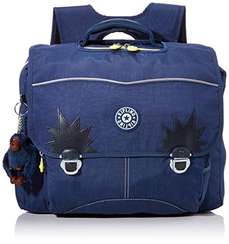 Kipling INIKO Cartable, 40 cm, 18 liters, Bleu (Blue Thunder)