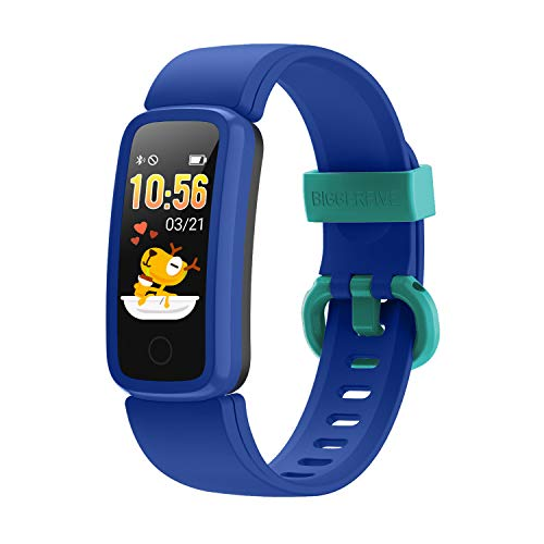 BIGGERFIVE Vigor Pulsera Actividad Inteligente Reloj Inteligente para Niños Niñas Mujer, Impermeable IP68 Deportivo Smartwatch con Podómetro Pulsómetros Monitor de Sueño Contador de Caloría ✅