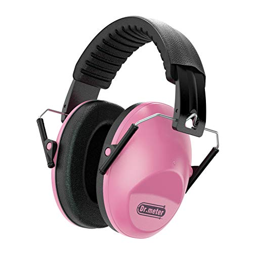 Dr.meter Kids Noise Reduction Earmuffs with 27 NRR Hearing Protection Earmuffs (Pink)