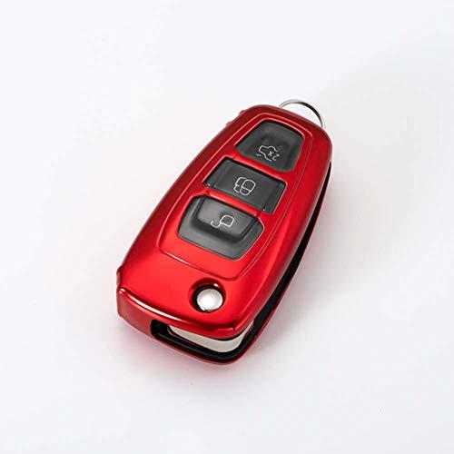 AMLaost Carcasa protectora de la caja de la cubierta de la llave del coche de la fibra de carbono TPU, para Buick Chevrolet Cruze Opel Vauxhall