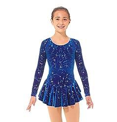 Mondor Girls Born to Skate Glitter Figure Skating Dress 2723
